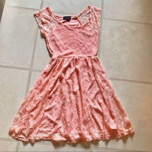 Body Central Pink Lace Dress